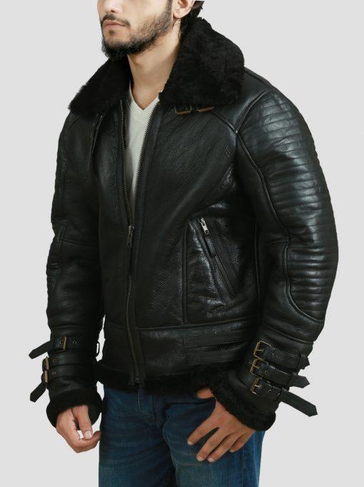 Dark Brown Bomber Leather Jacket
