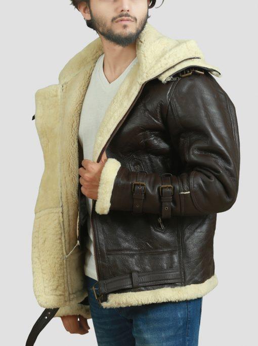 Flying Bomber Leather Jacket