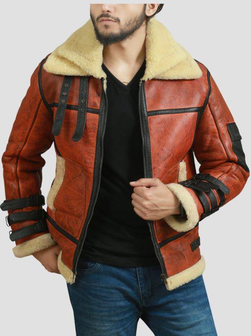 Sheepskin Bomber Leather Jacket