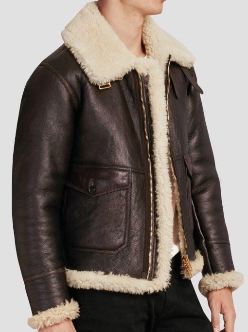 Dave B3 Shearling Sheepskin Leather Jacket