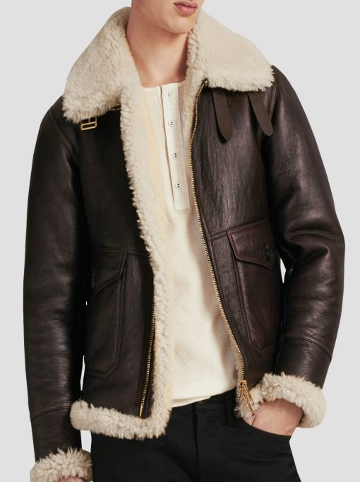 Mens B3 Shearling Leather Jacket