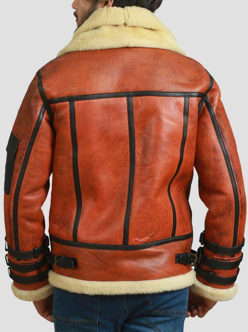 Shearling Land B3 Aviator Bomber Leather Jacket