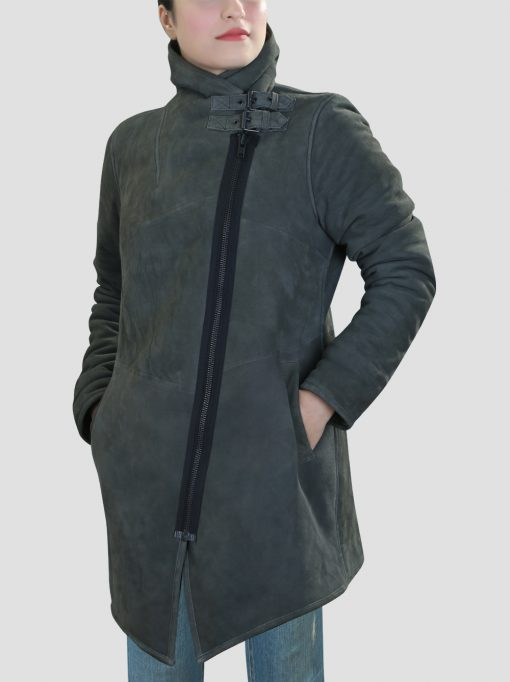 Womens Shearling Leather Coat