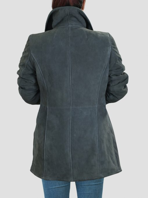 Grey Shearling Coat For Women