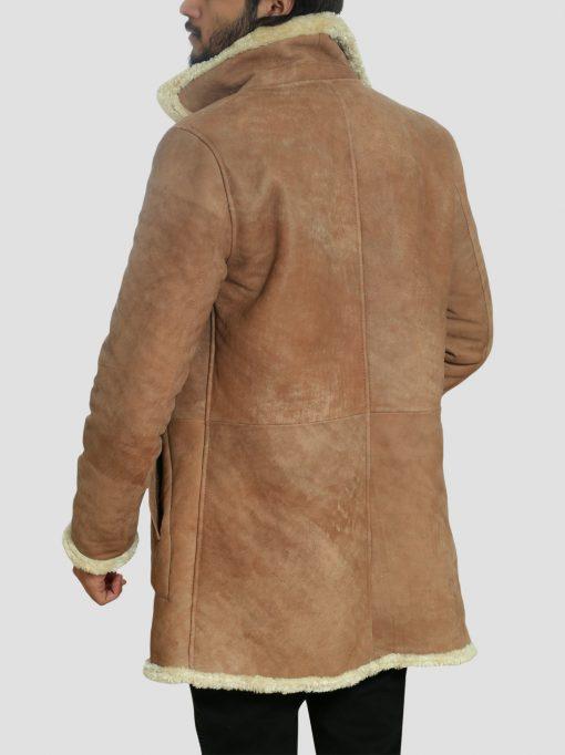 James Brown Shearling Leather Sheepskin Coat