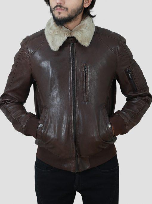 Mens Shearling Collar Jacket