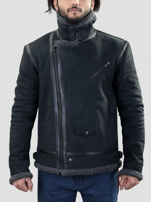 Shearling Leather Jacket For Mens