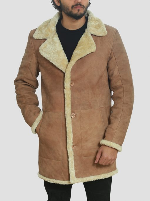 Mens Brown Shearling Coat