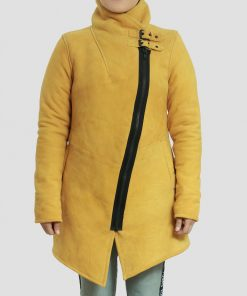 Sheila Yellow Womens Coat