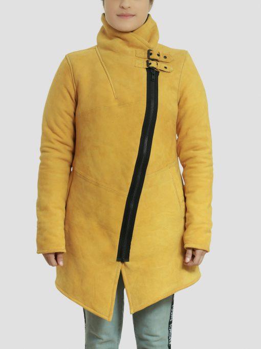 Sheila Yellow Womens Coat