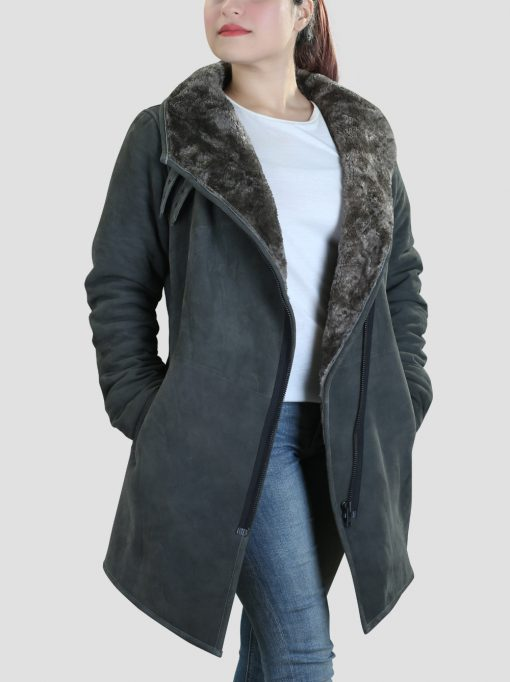 Leather Shearling Coat