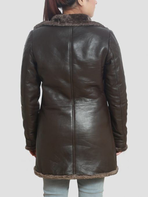Womens Brown Lambskin Coat