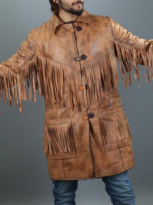 Deadfall Cowboy Western Fringe Leather Jacket