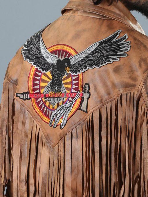 Vintage 70s Cowboy Frindge Leather Jacket
