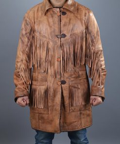 Western Cowboy Brown Fringe Jacket