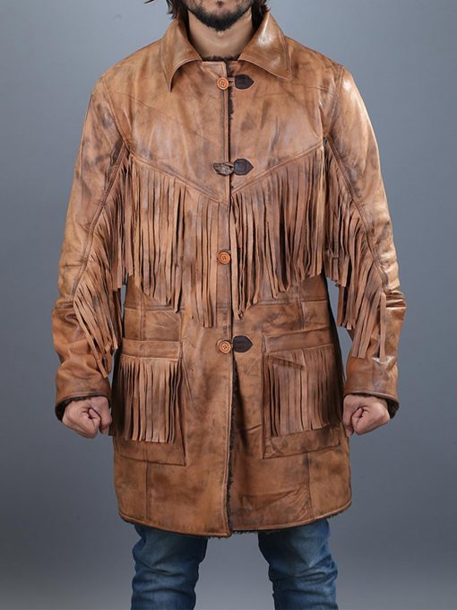 Western Cowboy Brown Fringe Jacket